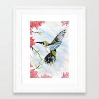 hummingbird Framed Art Prints featuring Hummingbird by Noah Benjamin Krogh