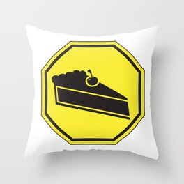 Stop for Pie Throw Pillow