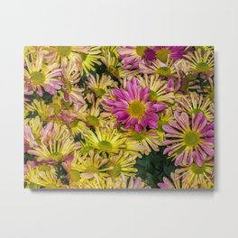 Messed Up Flowers Metal Print