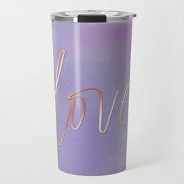 Love in the Clouds - Purple Travel Mug