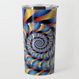 Archimedes' Blue & Gold Tangent Travel Mug