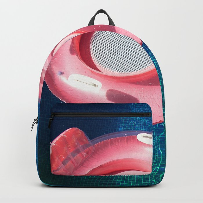 Rose blue swimming pool Backpack