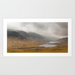 A string of lakes Art Print