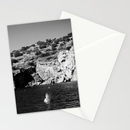 Girl in Lake Stationery Cards