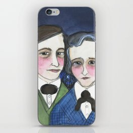 A Moonlit Tale of Grimm, Victorian Writers Portrait, The Brothers Grimm Portrait iPhone Skin