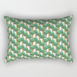 broccoli rainbow Rectangular Pillow