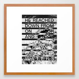 Deep Waters Framed Art Print