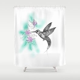 Purple November Shower Curtain
