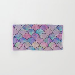 Informe Abstracta Pink Fish Scale Pattern Scallop Abstract Design Hand & Bath Towel