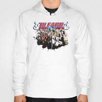 bleach Hoodies featuring TOGETHER BLEACH by feimyconcepts05