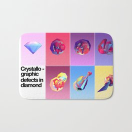 Crystallographic defects in diamond Bath Mat