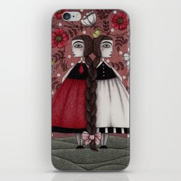 Snow-White and Rose-Red (1) iPhone Skin
