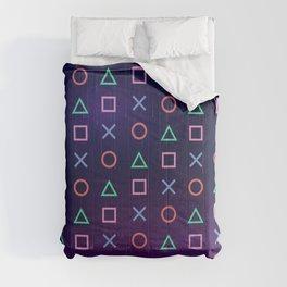 Cyberpunk Vaporwave Playstation Icons Comforters