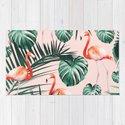 Tropical Flamingo Pattern #2 #tropical #decor #art #society6 by anitabellajantz