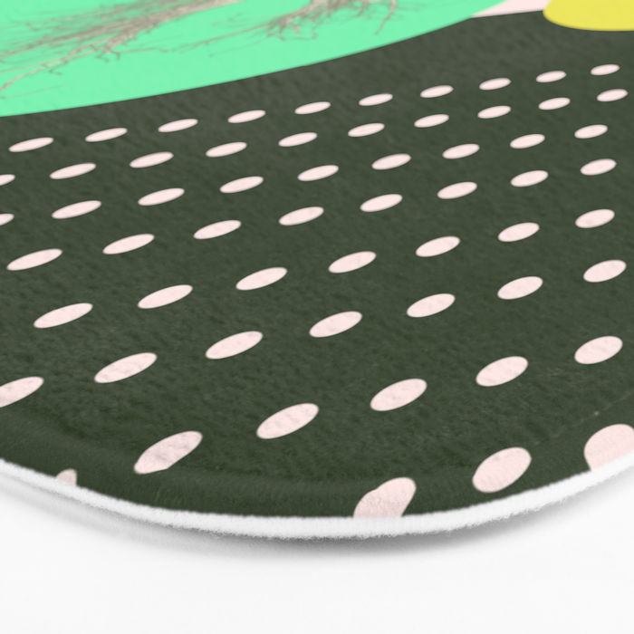 In my world forests are geometric Bath Mat