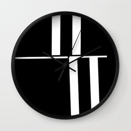 Anxiety Rectangles 1 #minimalism #abstract #geometry #society6 Wall Clock