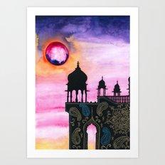 Rajasthan Sunset Art Print