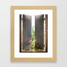 Bedroom Window Framed Art Print