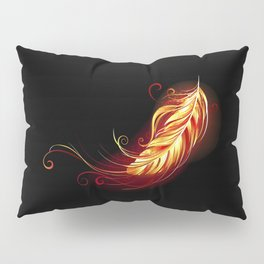 Flaming Feather Phoenix Pillow Sham