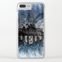 Graphic Art BERLIN Brandenburg Gate Clear iPhone Case