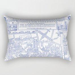 PRINCETON university map NEW JERSEY dorm decor Rectangular Pillow