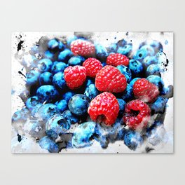 Fruits and berrys V Canvas Print