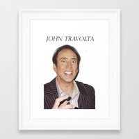 nicolas cage Framed Art Prints featuring John Travolta // Nicolas Cage by Jared Cady
