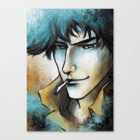 """cowboy bebop Canvas Prints featuring Cowboy Bebop - Spike Spiegel by Barbara """"Yuhime"""" Wyrowińska"""