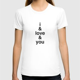 i & love & you Avett Brothers T-shirt