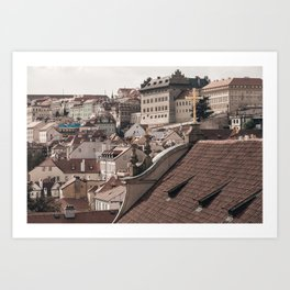Prague Rooftop 05 Art Print