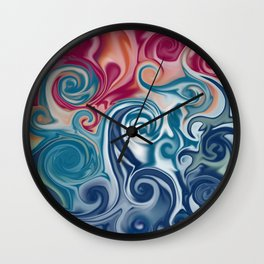 Spiral fluids Wall Clock
