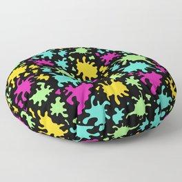Colorful Paint Splatter Pattern Floor Pillow