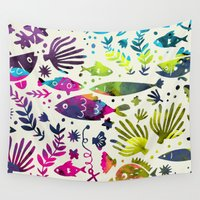 under the sea Wall Tapestries featuring Under The Sea by 83 Oranges™