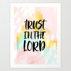 Trust the Lord - Christian Faith typography - Abstract Art Print