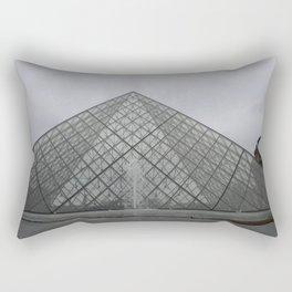 Louvre in December Rectangular Pillow
