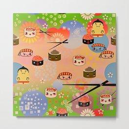 kawai sushi for sumo wrestles Metal Print