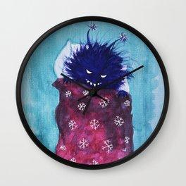 Cute Evil Bug Goes To Sleep Wall Clock