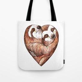 sloth love Tote Bag