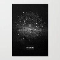 universe Canvas Prints featuring STARGAZING IS LIKE TIME TRAVEL by Amanda Mocci