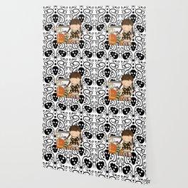 Halloween Skull Girl Wallpaper