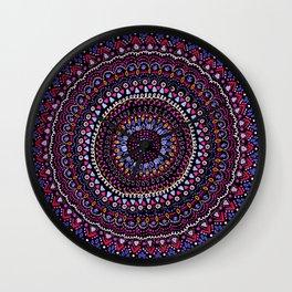 Mandala peace blue pink Wall Clock