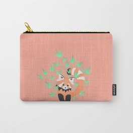 Baby Red Panda / Grapefruit Carry-All Pouch