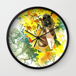 Honey Bee and FLower Wall Clock