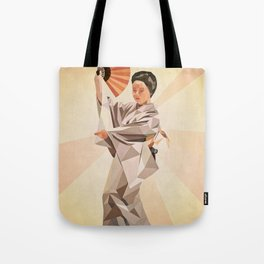 polygonal japanese dancer Tote Bag