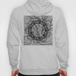 Gray Swirl Mandala Hoody