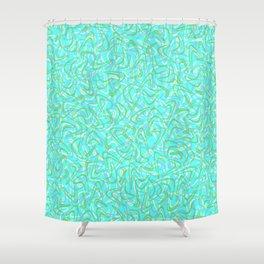 Boomerang Aqua Shower Curtain