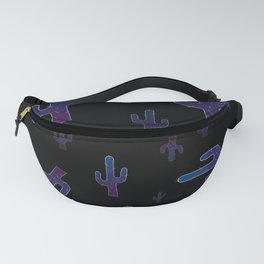 Cactus boys at night Fanny Pack