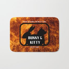 Bunny and Kitty Two of a Kind Bath Mat