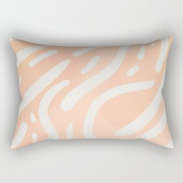 Fun peach and pink painted with dove grey pattern Rectangular Pillow