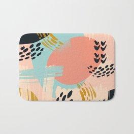 Brushstrokes abstract art Bath Mat